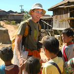 School Kids with a Tourist - Kalaw, Burma