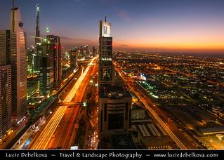 United Arab Emirates - UAE - Dubai - Sheikh Zayed Road - Main Vein of the city