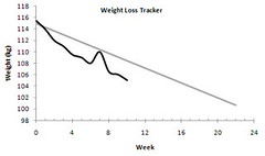 weight loss graph