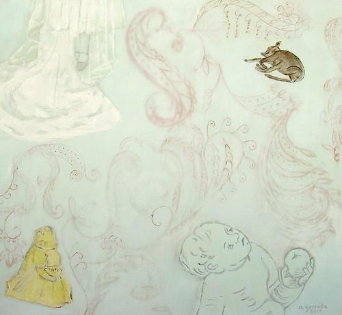 Copia (2) de el cuerpo delicado II, oleo sobre lienzo 89x81 cm. 2008