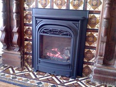 wood-burning stove, fireplace, hearth,