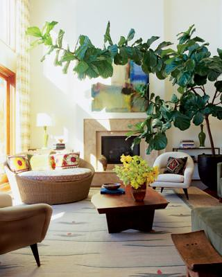 Warm, modern California living room, featured in Elle Decor ...
