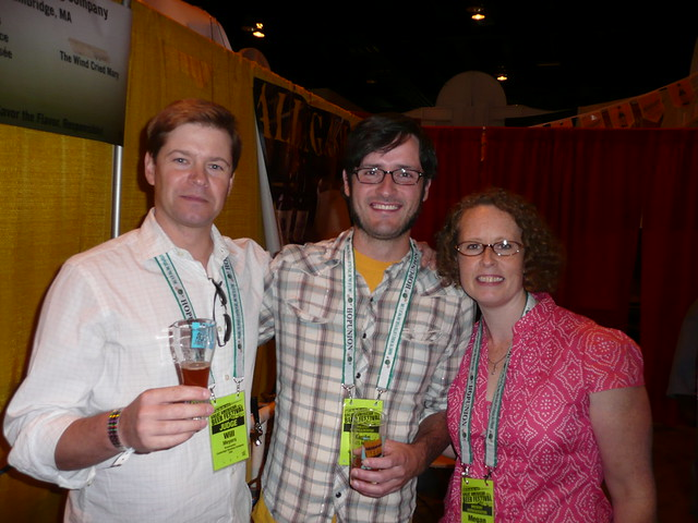 Will Meyers, with Kevin & Megan, from Cambridge Brewing