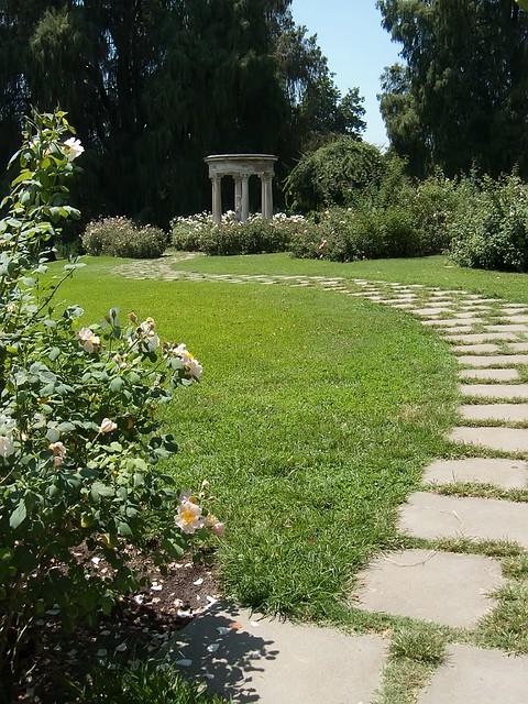 Rose Garden Walkway To Tempietto At Huntington Gardens