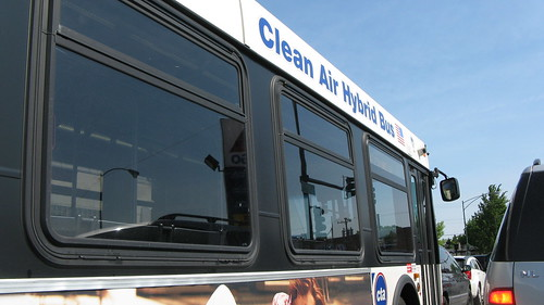 A Chicago Transit Authority 2006 New Flyer bus, modified as a clean air hybrid bus. Chicago Illinois USA. May 2011. by Eddie from Chicago