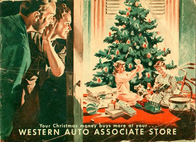 western auto - christmas - late 40 u0026 39 s early 50 u0026 39 s