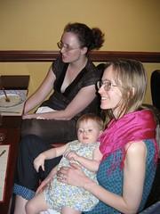 Kate Eltham, baby Elizabeth, & Kathryn Camer