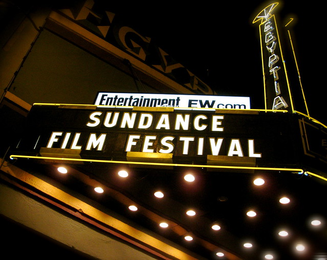2009 Sundance Film Festival marquee at The Egyptian