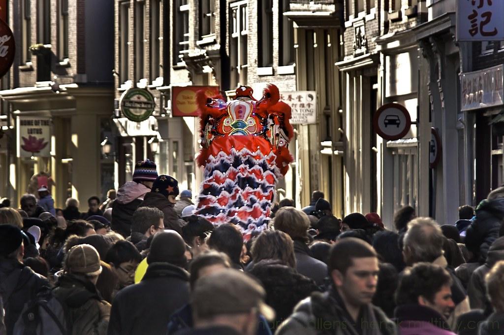 Amsterdamda Çin yeniyılı
