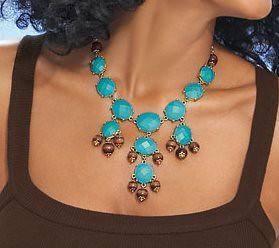 avon turquoise necklace