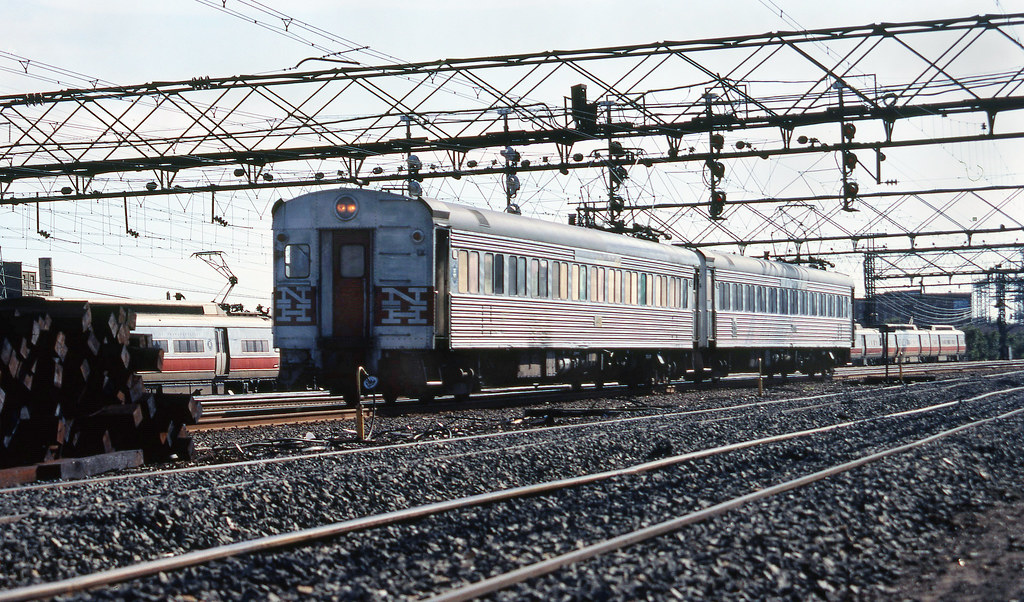 Two former new haven railroad 4400 series washboard electric mu