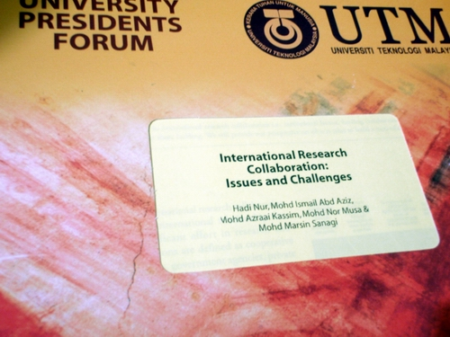 Paper for University Presidents Forum - 2009