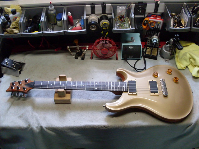 Photo:PRS 22 on Bench By Roadside Guitars