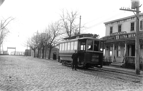 College Point Trolley Car, College Point, ca. 1905
