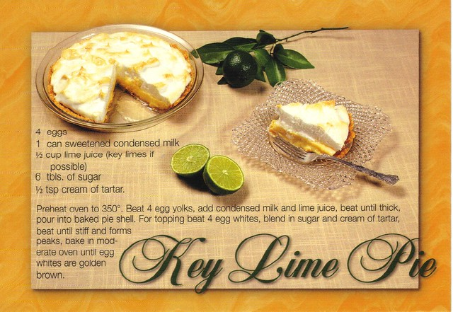 Key Lime Pie recipe postcard #2 - available | Flickr - Photo Sharing!