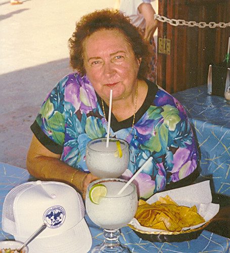 Cozumel - Janet and Our Margaritas