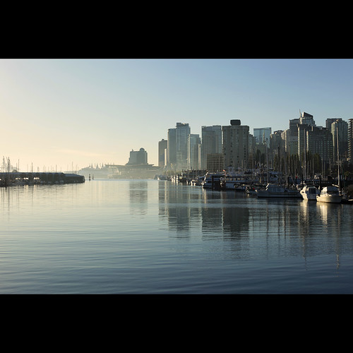 city morning blue vancouver marina dawn cool downtown cityscape harbour britishcolumbia stanleypark coalharbour canonef50mmf14usm coalharbourmarina kvdl