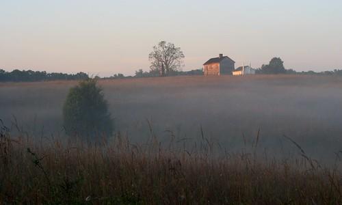 morning house fog sunrise landscape dawn virginia early va manassas henryhouse manassasva
