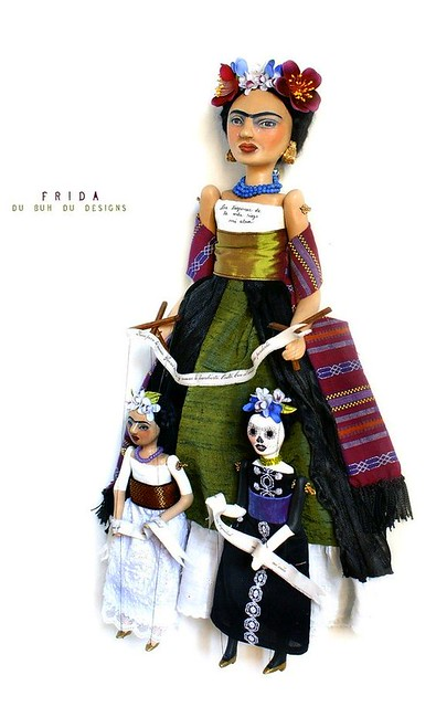 Art Doll Frida and Marionettes
