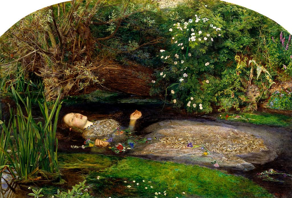 'Ophelia' Sir John Everett Millais, 1851-1852
