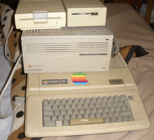 Apple IIe, Mac IIcx and 2 floppy drives