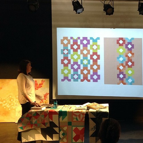 @swimbikequilt giving her awesome lecture! #stitcheddc @anacostiaarts #dcmqg