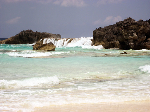 beach sand rocks surf waves caribbean turks cacios