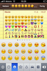 iPhone Emoji Keyboard enabled