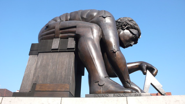 The Eduardo Paolozzi sculpture of Newton at the British Library