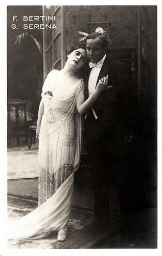 Francesca Bertini & Gustavo Serena in La signora delle camelie