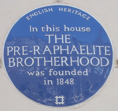 Photo of The Pre-Raphaelite Brotherhood blue plaque