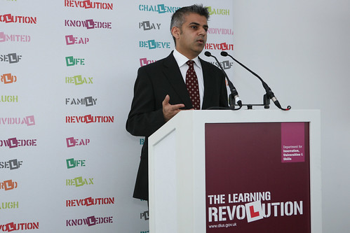 Sadiq Khan speaking