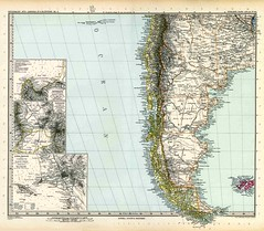 Historic map of PATAGONIA (1891): zoom in and see detailed informations on historic locations