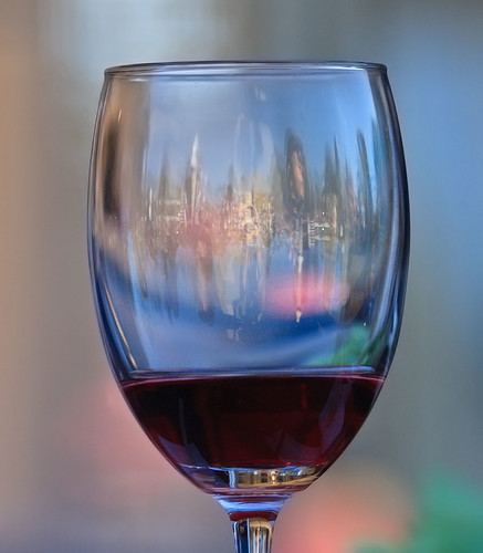 Through a wine glass
