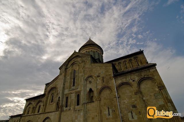 Panorama kościoła w Gruzji