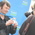 Ian Rankin | Ian Rankin having his photo taken at Edinburgh International Book Festival