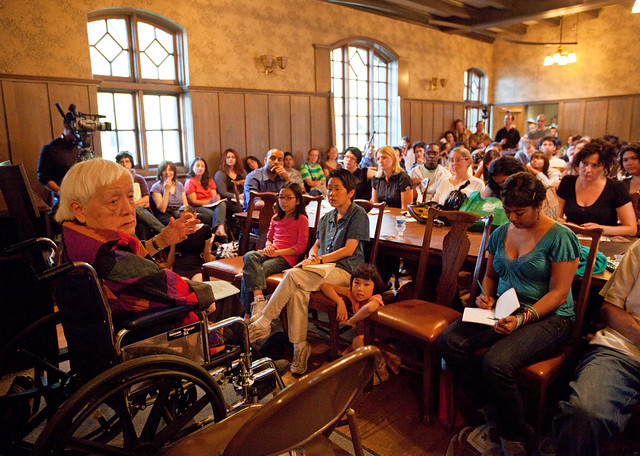 Grace Lee Boggs Addresses a Full Hull House Crowd