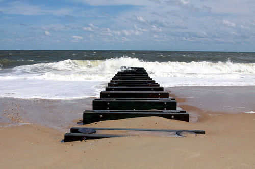 beach and waves: rehoboth, delaware