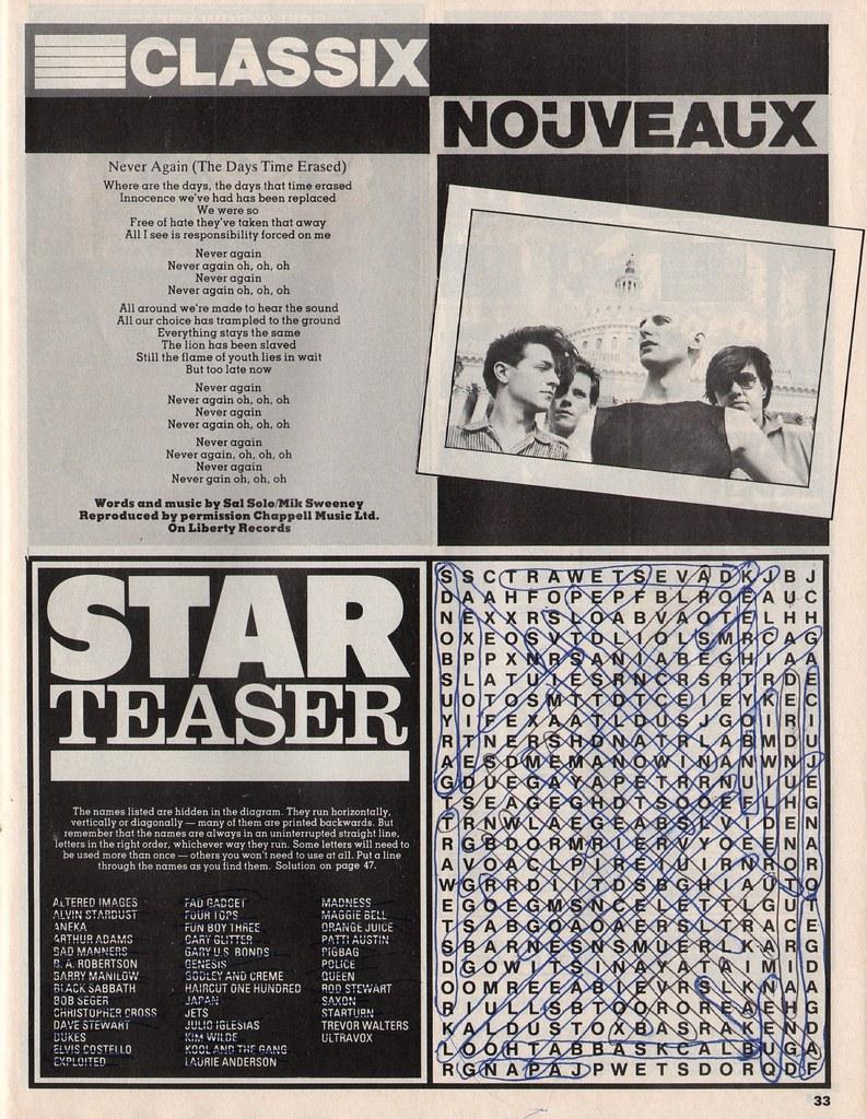 Smash Hits, November 26, 1981 - p.33