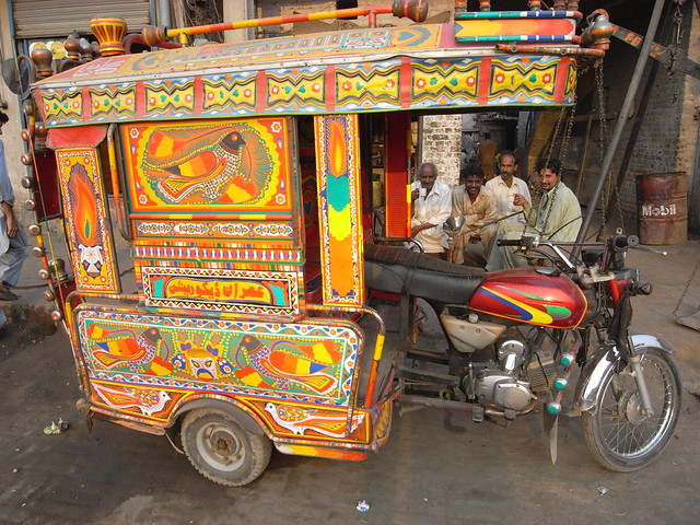 Decorated auto rickshaw lahore pakistan flickr photo for Auto decoration in pakistan