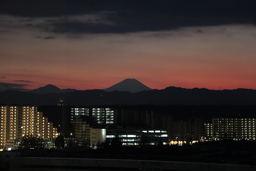 sunset mountain japan tokyo asia fuji honshu