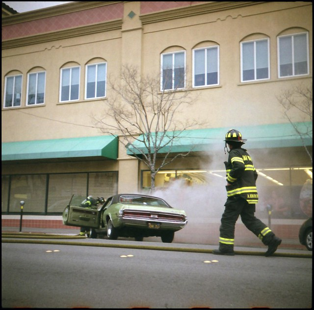 Death Of A Cougar Car Fire In Downtown San