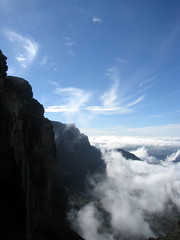 Looking down cliff of Roraima, Venezuela
