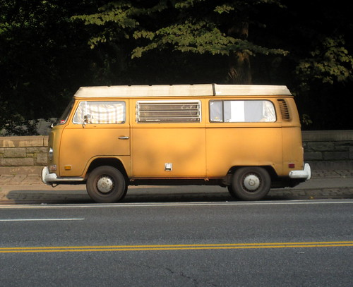 Orange Hippie Van