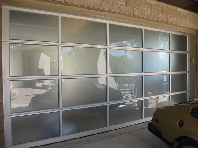 contemporary frosted glass garage door flickr photo