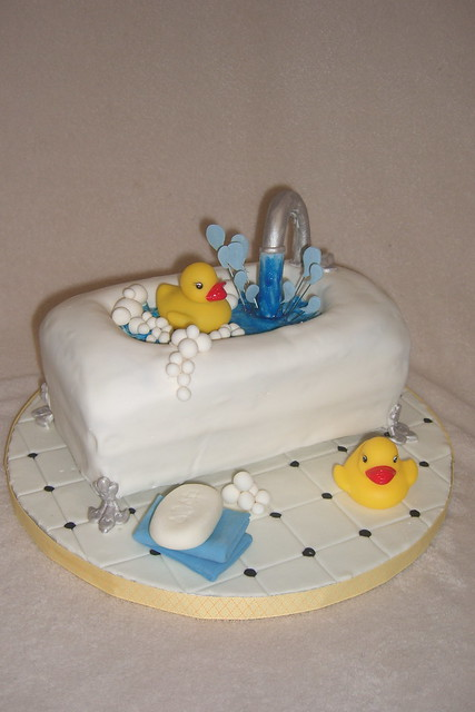 Rubber Duck Baby Shower Cakes http://www.flickr.com/photos/gocustomcakesbyb/3966737841/