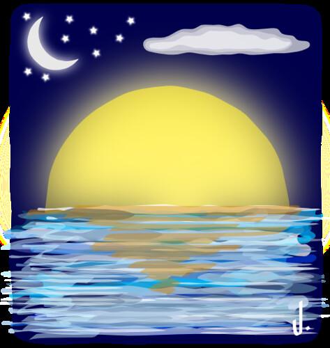 pôr da lua by julio.neto