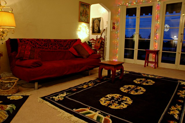 Living Room, Tibetan California Style, San Mateo, CA, USA