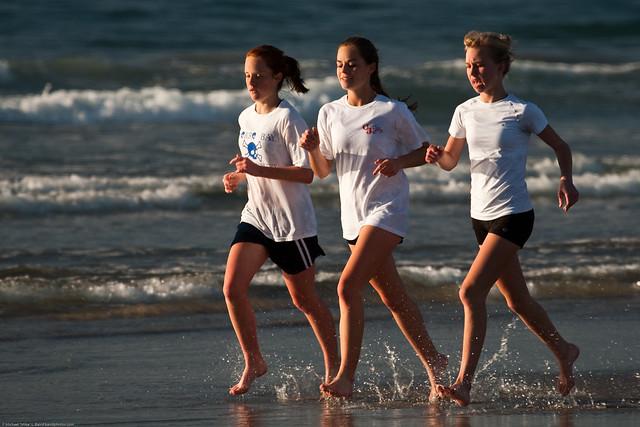 High School Girls Beach