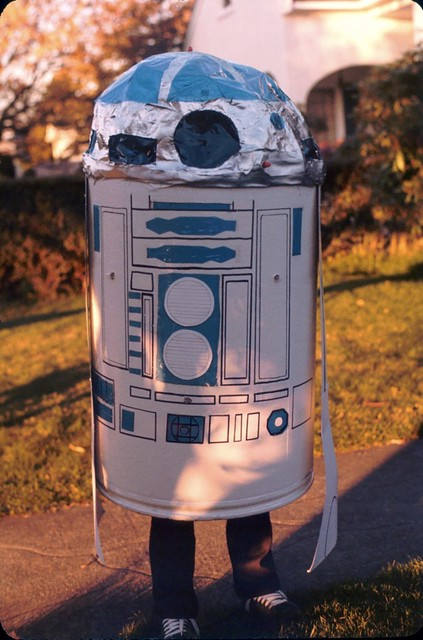 Johnny's R2D2 costume, Halloween 1978